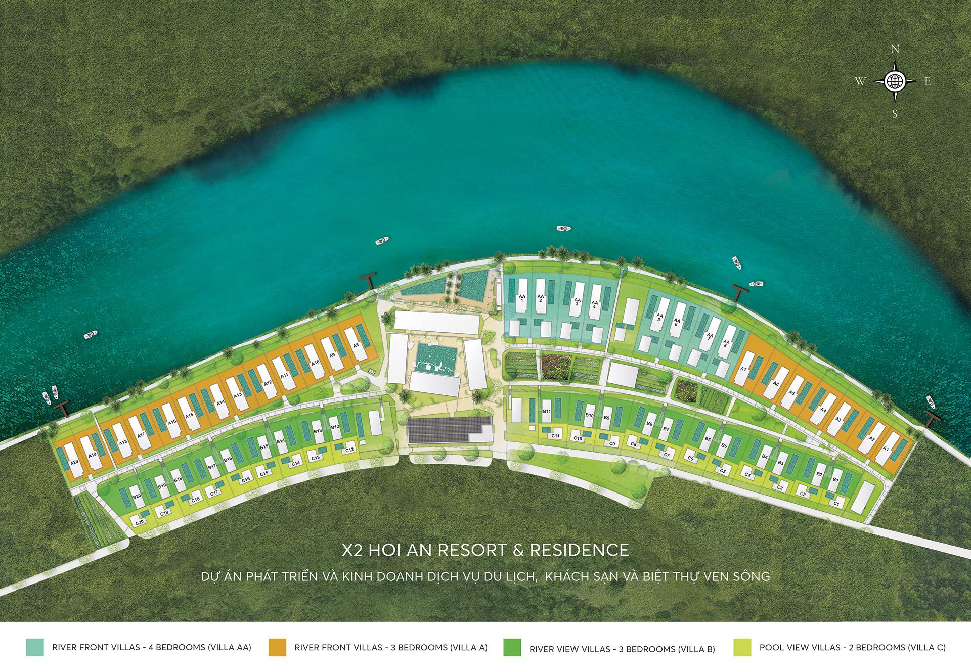 dự án biệt thự X2 hội an resort residences quảng nam