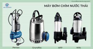 Các loại máy bơm chìm nước thải chuyên dụng cho nhà hàng, khách sạn